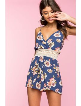 crochet-trim-floral-romper by agaci