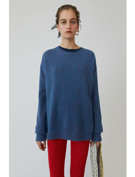 Heathered Sweater Blue Melange by Acne Studios