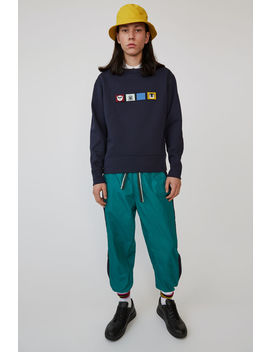 Regular Fit Sweatshirt Navy Blue by Acne Studios