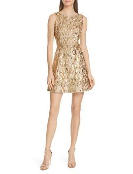 Lindsey Embellished Fit & Flare Dress by Alice + Olivia