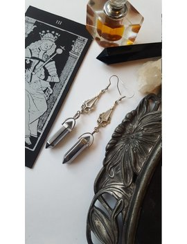 Victorian Silver Point Earrings   Mourning Jewelry, Antique, Vintage, Tradgoth, Gothic, Romantic, Equinoxart by Etsy