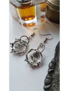 Thorns And Roses Earrings   Witch, Alternative, Gothic, Medieval, Equinoxart by Etsy