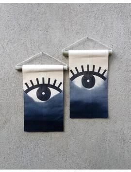 Evil Eye Banner, Ombre Wall Hanging, Boho Minimalist Wall Art, Witchy Home Decor, Monochrone Wall Decor by Etsy