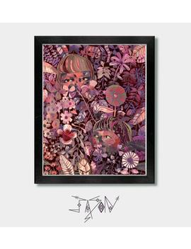 Floral, Wallflowers. Flowers, Girls, Pastel, Wall Flower, Pastel Goth, Witchy, Boho, Boho Flowers, Girls Boho, Goth, Woodland, Colorful by Etsy