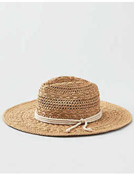 Aeo Rope Trim Straw Hat by American Eagle Outfitters