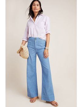 Pilcro High Rise Wide Leg Trouser Jeans by Pilcro And The Letterpress