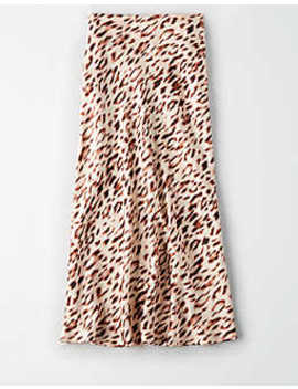 Ae Studio Animal Print Midi Skirt by American Eagle Outfitters