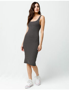 Heart & Hips Stripe Square Neck Midi Bodycon Dress by Tilly's