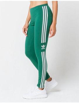 Adidas Trefoil Green Womens Leggings by Adidas