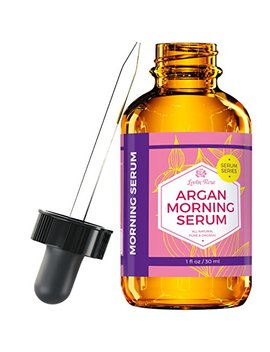 Argan Morning Serum By Leven Rose, 100% Pure Organic Natural Brightens Complexion Naturally Stimulates Collagen And Elastin Reduces Fine Lines And Wrinkles 1 Oz by Leven Rose