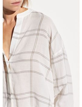 Carpenteria Plaid Full Sleeve Shirt by Vince