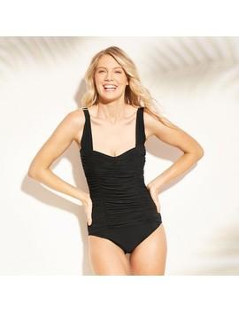 Women's Shirred One Piece Swimsuit   Aqua Green® by Aqua Green®