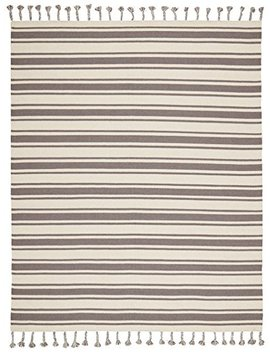"Stone & Beam Los Altos Striped Dhurrie Area Rug, 8' X 10'6"", Grey And Ivory by Stone & Beam"