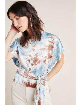 Tie Dyed Satin Top by Tina + Jo
