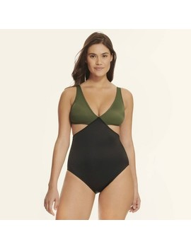 Beach Betty By Miracle Brands Women's Slimming Control Colorblock Cut Out One Piece Swimsuit by Beach Betty By Miracle Brands