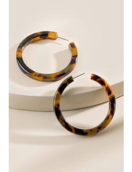 c13f2b0fadf54 Charley Tortoise Hoop Earrings