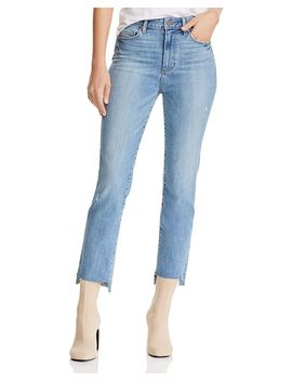 Hoxton High Rise Straight Jeans In Zyra Destructed   100% Exclusive by Paige