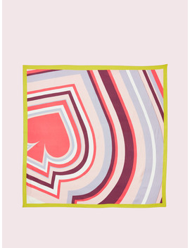 Concentric Spade Silk Scarf by Kate Spade