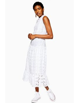 Broderie Midi Smock Dress by Topshop
