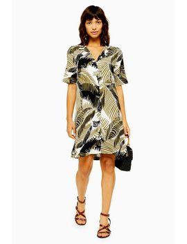 Tall Palm Bowling Shirt Dress by Topshop