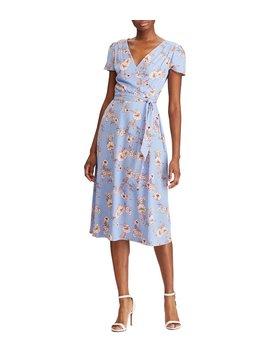 Floral Print Midi Length Wrap Dress by Lauren Ralph Lauren