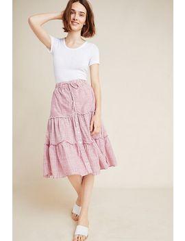 Sundry Tiered Mini Skirt by Sundry