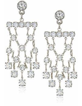 1928 Jewelry Silver Tone Genuine Swarovski Elements Chandelier Drop Earrings by 1928 Jewelry