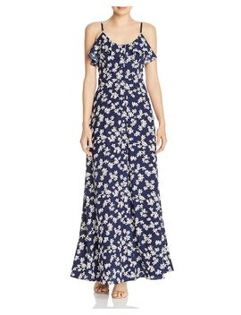 Button Front Floral Maxi Dress   100% Exclusive by Aqua