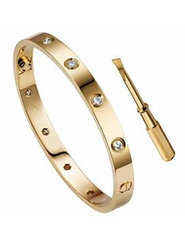 Queen Julia Bracelets For Women Love Bracelet Bangle For Couples Buckle Pulseras De Mujer Titanium Steel Girlfriend Boyfriend Valentines Wedding by Queen Julia
