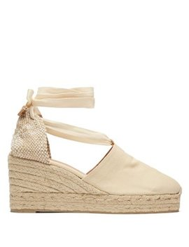 Campesina 60 Canvas & Jute Espadrille Wedges by Castañer