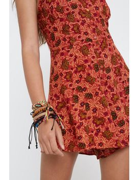 Uo Emma Floral Romper by Urban Outfitters