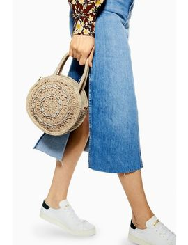 Shell Straw Round Grab Bag by Topshop