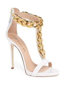 Rita Ora Curb Chain T Strap Sandal by Giuseppe Zanotti