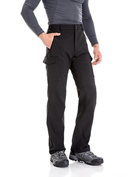 Trailside Supply Co.... Men's Water Repellent Softshell Fleece Lined Cargo Pant by Trailside Supply+Co.