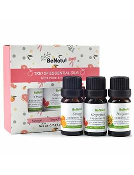 Benatu Essential Oils Basic Set Of 3 Pack (Orange, Grapefruit, Bergamot), 100 Percents Pure Concentrated Oil, Refresh Body & Mind, Skin Care Massage, Air Fresh For Room 10ml Each by Benatu
