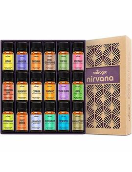 Natrogix Nirvana Essential Oils   Top 18 Essential Oil Set 100 Percents Pure Therapeutic Grade 18/10ml Incl. Lavender, Moroccan Rosemary, Tea Tree, Eucalyptus, Lemongrass And 13 More W/Free E Book by Natrogix
