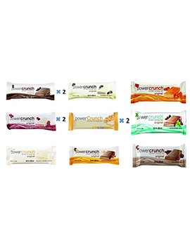 Power Crunch Protein Energy Bar Variety All 9 Flavors 12 Pack (Pack Of 12) by Power Crunch