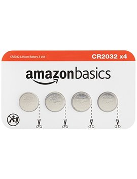 Amazon Basics Cr2032 Lithium Coin Cell 4 Pack by Amazon Basics