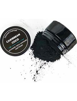 Caribbean Coco   Premium Charcoal Teeth Whitening Powder   Activated Coconut Carbon Toothpaste   Usa Made by Caribbean Coco