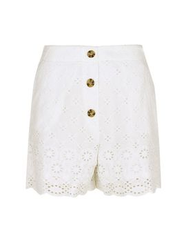 Ivory Broderie Shorts by Dorothy Perkins