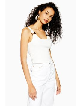 Tall Buckle Ribbed Crop Cami by Topshop