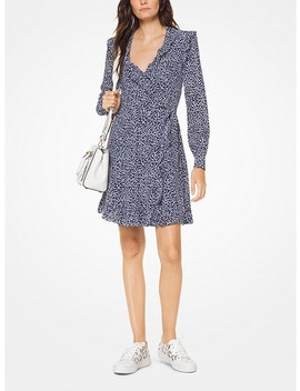 Paisley Washed Silk Wrap Dress by Michael Michael Kors
