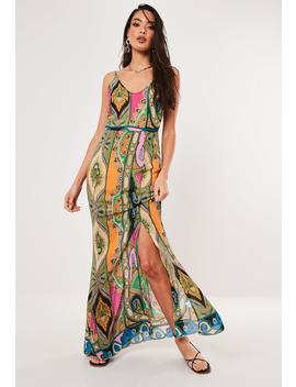 Pink Paisley Print Cowl Maxi Dress by Missguided
