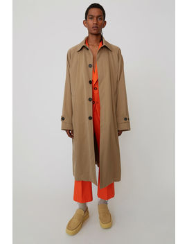 Long Cotton Coat Hazel Beige by Acne Studios