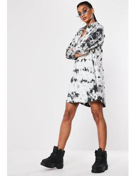 White Jersey Tie Dye Shirt Dress by Missguided