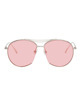 Silver & Pink Jumping Jack Sunglasses by Gentle Monster