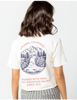 Mad Engine Coors Golden Colorado Womens Crop Tee by Mad Engine
