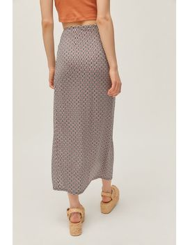 Uo Snyder Side Slit Slip Skirt by Urban Outfitters