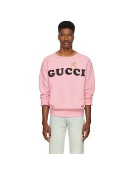 Pink Logo Sweatshirt by Gucci