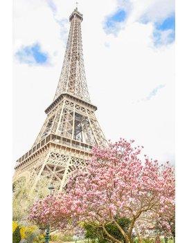 Paris Photo Print // #Parisin Spring (Paris Travel Photography, Eiffel Tower, Blossom, Paris Photography Print, Fine Art Photography) by Etsy